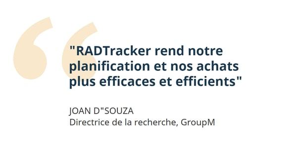GroupM et RADTracker